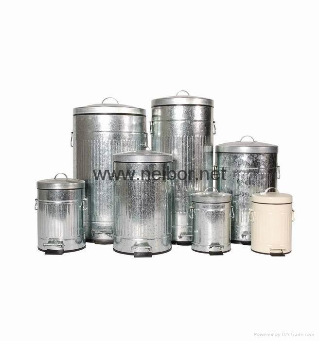 镀锌铁垃圾桶 4