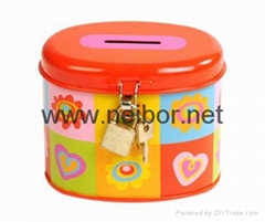 tin money box saving box coin bank