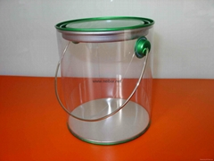 clear PVC candy pail bucket