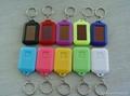 Wholesale Christmas Gift LED Mini Plastic Solar Flashlight Keychain  2