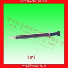 藍芯玻璃注射器 1ml