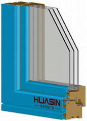 HUASIN华兴铝包木门窗HC98系列隐藏式暗水结构