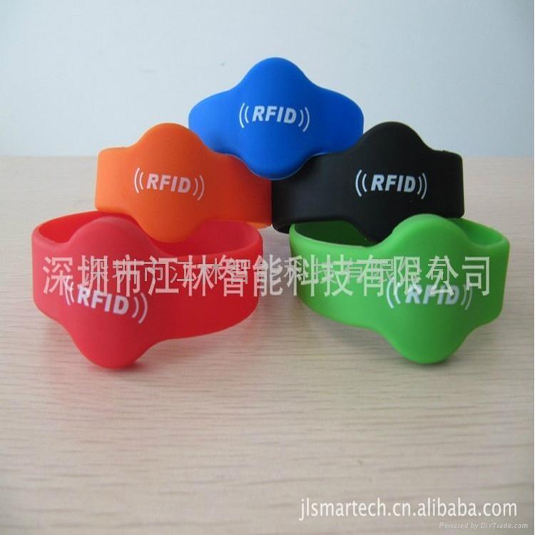 批發 硅膠腕帶 防水耐用耐高溫 IC/ID芯片 會員管理腕帶卡 2