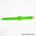 《厂家直销》RFID胿胶手腕带 铁扣腕带  4