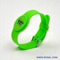 《厂家直销》RFID胿胶手腕带 铁扣腕带  2