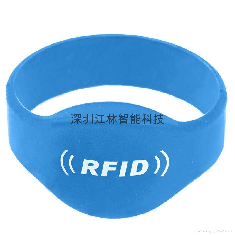 批發 硅膠腕帶 防水耐用耐高溫 IC/ID芯片 會員管理腕帶卡 3