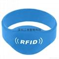 批发 硅胶腕带 防水耐用耐高温 IC/ID芯片 会员管理腕带卡 3