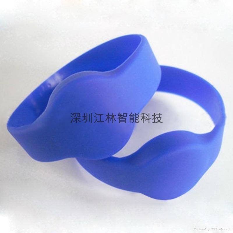 批發 硅膠腕帶 防水耐用耐高溫 IC/ID芯片 會員管理腕帶卡 5