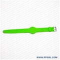 深圳硅胶厂家定制铁扣手表腕带 RFID腕带 高频低频手环 2