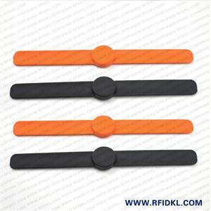 江林卡廠供應可調拍拍硅膠腕帶 RFID手環 2