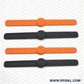 江林卡厂供应可调拍拍硅胶腕带 RFID手环 2