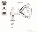 長臂猿雙臂氣壓電腦顯示器支架YS-GM112C 2