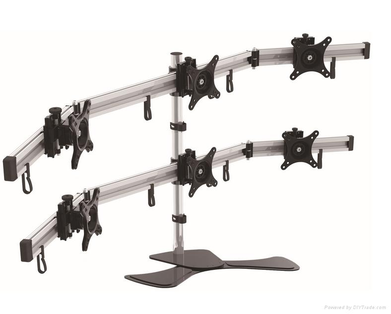 長臂猿六屏顯示器桌面支架YS-MP260SL 1