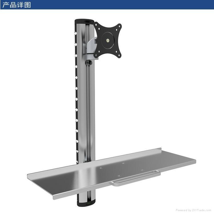 長臂猿帶鍵盤辦公室桌面站立兩用顯示器支架YS-WS06 1