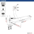 長臂猿帶鍵盤托人體工學顯示器支架YS-WS07 2