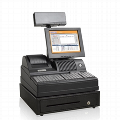 Black TFT LCD Thermal POS Equipment with VFD Customer Display POS3000A