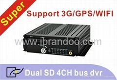 4 channel bus DVR/3G/WIFI/GPS optional