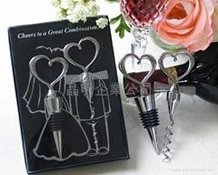 Heart-shaped wine plug bottle opener suit