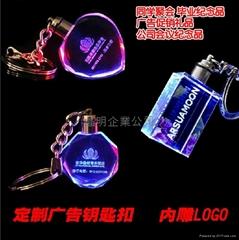 LED水晶钥匙扣