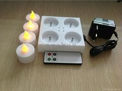 4座充電蠟燭