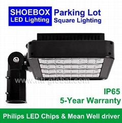 160W LED Square Parking Lot Light