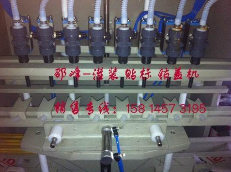 洗潔精定量充填灌裝鎖蓋機 2