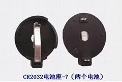 CR2032锂锰钮扣电池座-7-DIP(2粒钮扣电池)