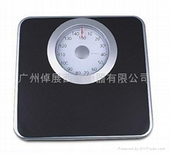 Bathroom supplies cold-rolled steel body mechanical weighing scales