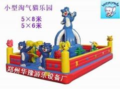 新型充气玩具蓝猫乐园