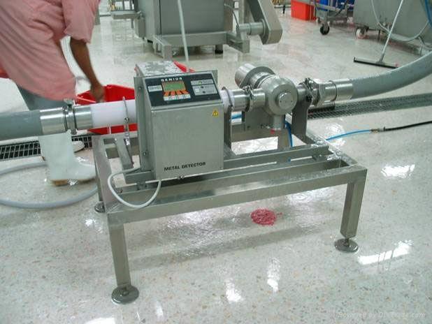 #廣東肉末/肉泥/肉漿泵壓式金屬探測檢出機#泵輸型金屬檢測器 1