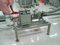 #廣東肉末/肉泥/肉漿泵壓式金屬探測檢出機#泵輸型金屬檢測器