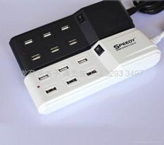 CE CB PSE UL认证5V7.1A 6口USB排插