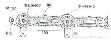 150轻型单吊片链条 2