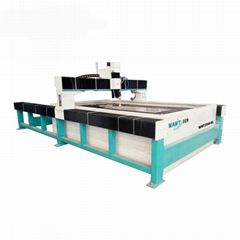 Automatic glass waterjet cutting machine with high pressure intensifier pump