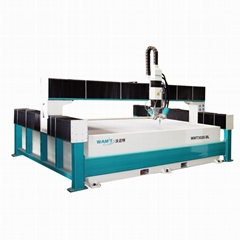 5 axis CNC stone waterjet cutting machine with intensifier pump