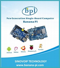 1GB Banana PI stronger then Raspberry PI 2