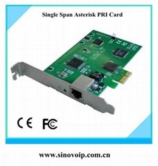 TE110E 1 E1 Asterisk PCIE Card E1 PRI Card same as digium card