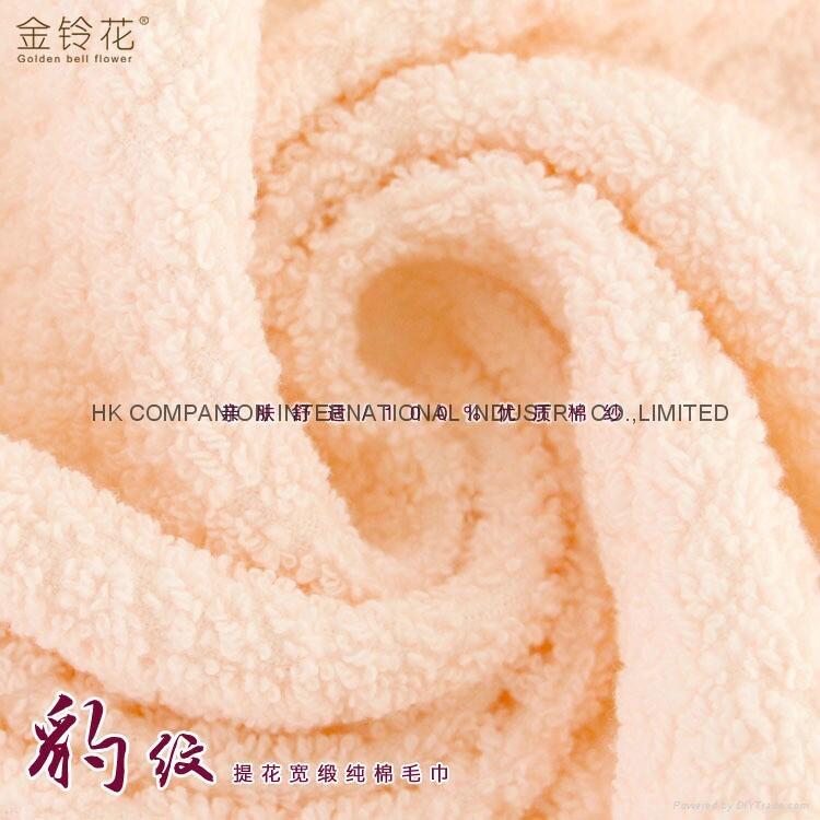 100%全棉豹纹提花活性染色毛巾面巾74x33cm 3
