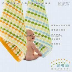 100%全棉無捻紗活性染色儿童面巾48x27cm