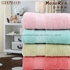 100%全棉锻档活性染色素色浴巾140x70cm