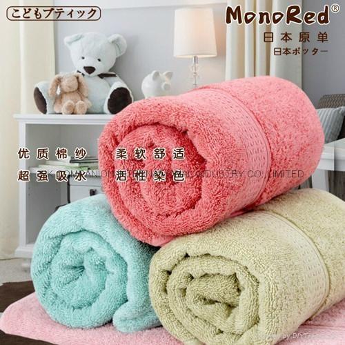 100%全棉锻档活性染色素色浴巾140x70cm 2