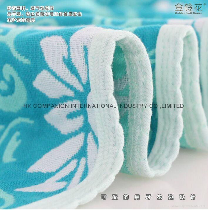 100%三層全棉活性染色布藝毛巾被200x150cm 2