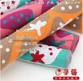 100%三层全棉色织布艺活性染色儿童面巾50x25cm 3