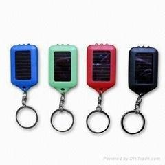 Solar LED Flashlight Keychains
