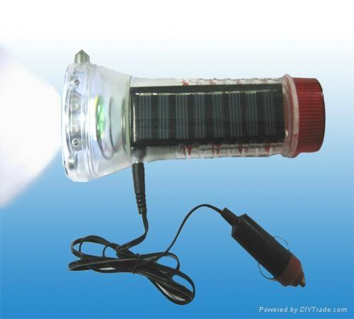 Solar Flashlight For Car 2