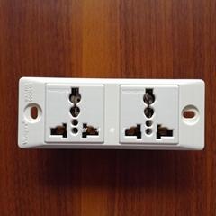 開關插座面板多孔Wonpro穩不落二位窄板插座工業流水線插座開關