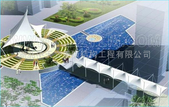 江苏通道走廊膜结构 3