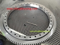 Slewing ball bearing E750.20.00.B with size 742.3x572x56mm with external teeth 2