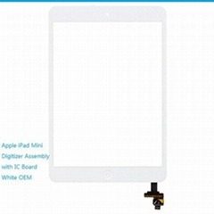 iPad Mini Digitizer Assembly with IC Board Replacement White