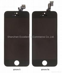 iPhone 5S 液晶总成 后压 黑色